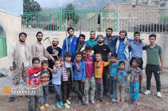 فعالیت گروه جهادی معین در روستای چاهن