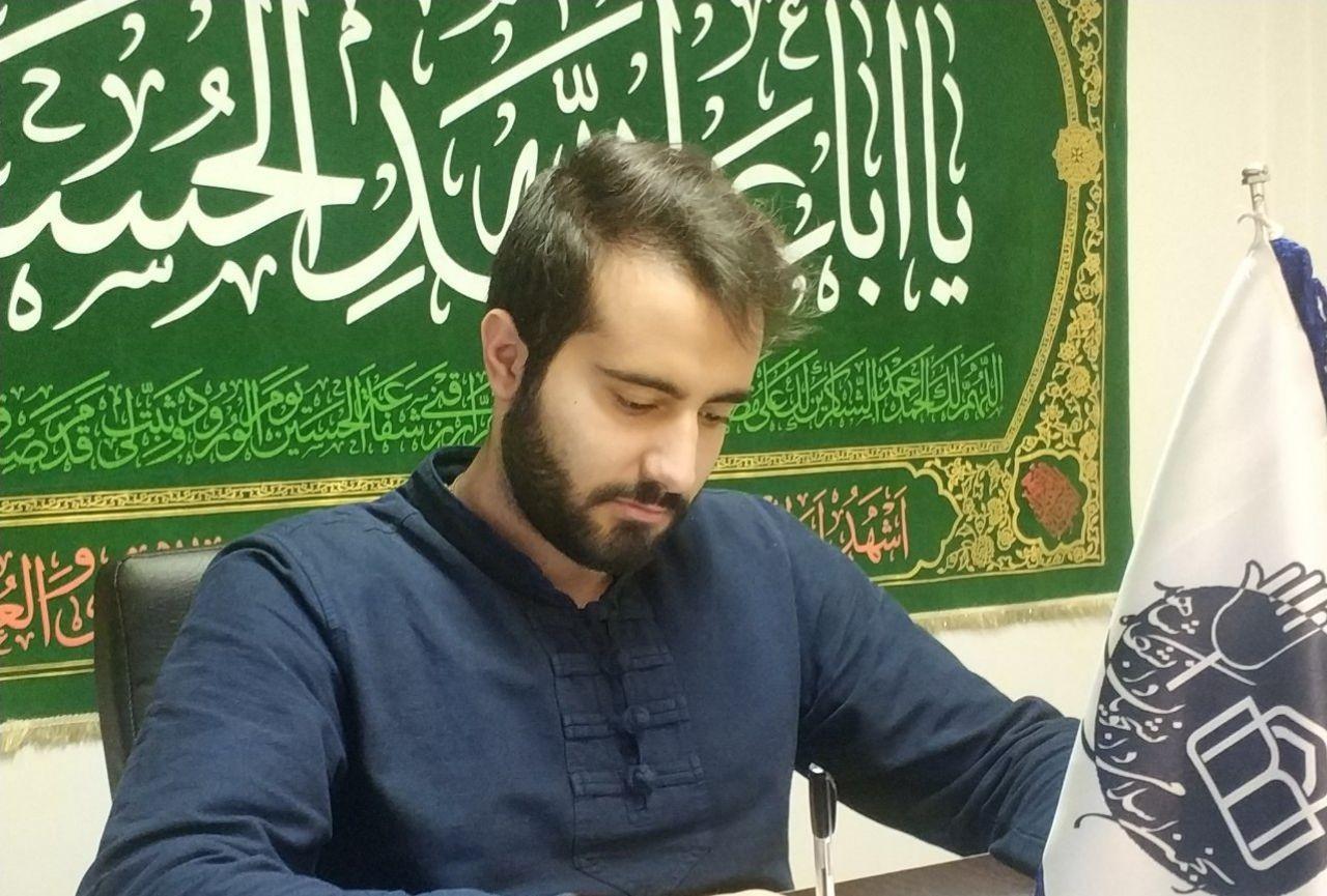 محمد جواد مداح دبیر انجمن اسلامی دانشجویان دانشگاه شاهد شد