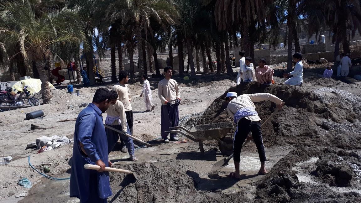 فعالیت گروه جهادی معین در روستاهای نوکین ده و چشمه زیارت