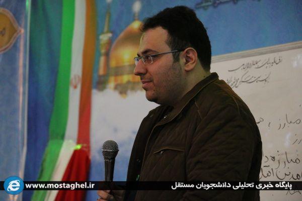 جلسه جریان شناسی سیاسی سینا زعیم زاده  در جهاد اکبر ۱۴